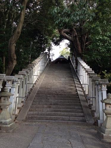 斑鳩神社 石段