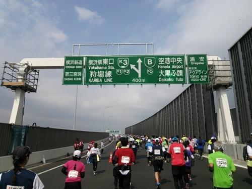 横浜マラソン2015-湾岸線を走る