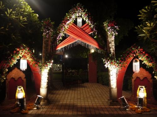 結婚式の門