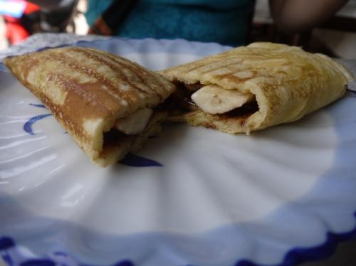 バナナチョコレートパンケーキ