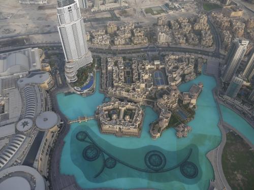 世界一のビルから世界一の噴水