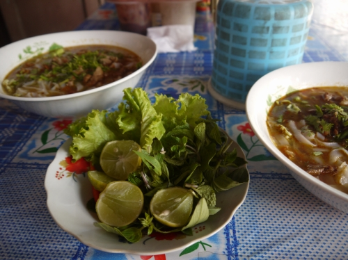 カオソーイの付け野菜