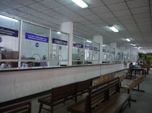 ラオス郵便局内部